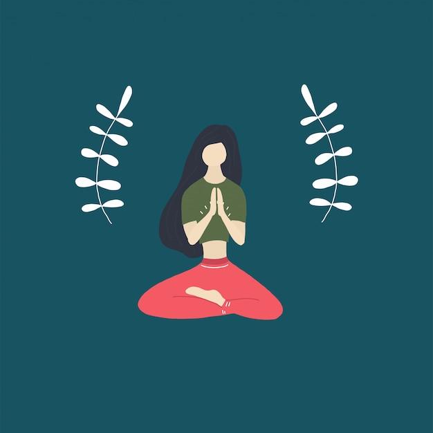 Ruhiges yogamädchen