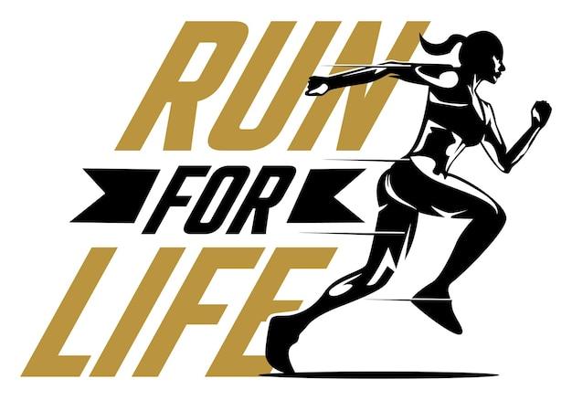 Run for life illustration