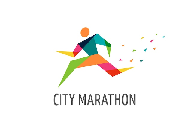 Run symbol symbol marathon poster und logo