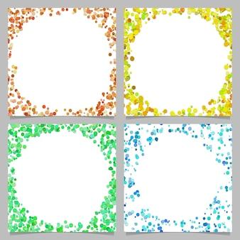 Runde abstrakte grenze mit punkten