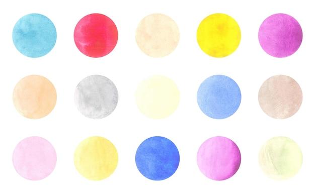 Runde aquarellabzeichen lokalisiert auf weiß