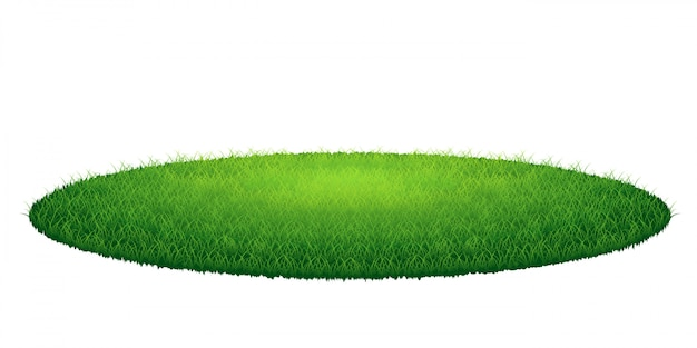 Runde arena des grünen grases