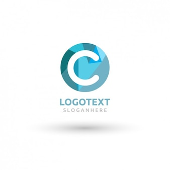Runde blaue logo mit einem großen c