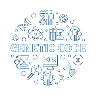 Runde entwurfsillustration des vektors des genetischen codes