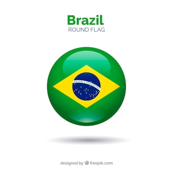 Runde flagge von brasilien
