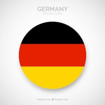 Runde flagge von deutschland