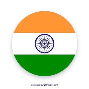 Runde Flagge von Indien