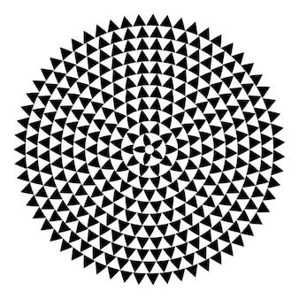 Runde form mit dreieckselementen vektormäanderschablonenbeschaffenheit