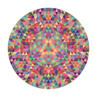 Runde geometrische dreieck mandala design - symmetrische vektor muster grafik kunst aus dreiecken