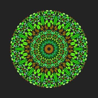 Runde geometrische kreisförmige abstrakte blütenblattmuster-mandala-kunst