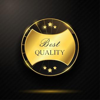 Runde goldene beste qualität abzeichen