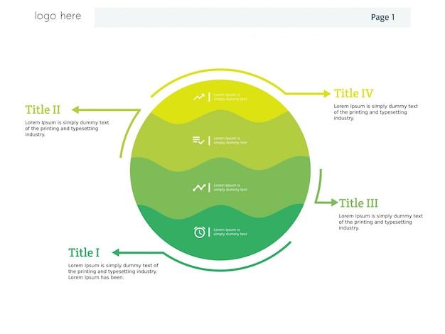 Runde kugelwelt der infographic schablone