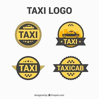 Runde logos für taxi-service