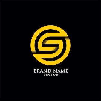 Runde s brief typografie logo design