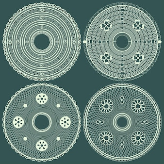 Runde servietten aus spitze abstrakt. vektor-illustration.