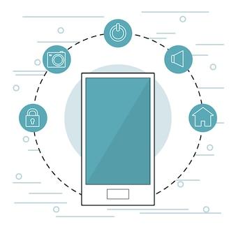 Runde symbole der smartphone-beweglichen anwendung