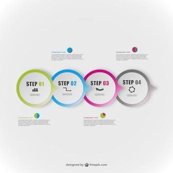 Runde vektor abstrakte elemente infografie