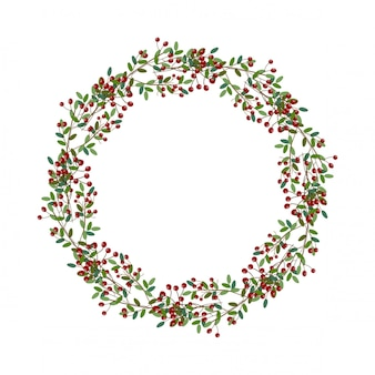 Runde weihnachtskranzillustration