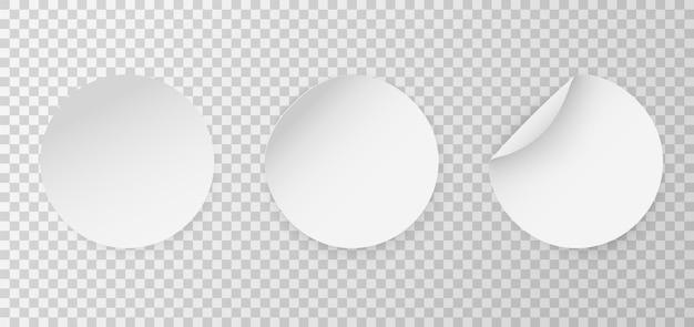 Runder aufkleber mit kreisförmigem klebemodell