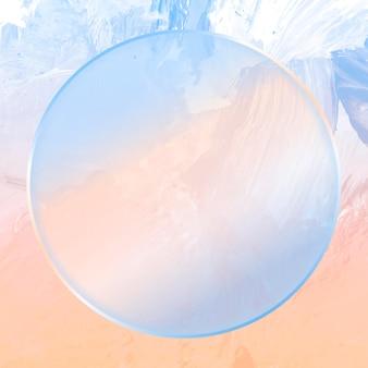 Runder blauer rahmen auf abstraktem hintergrund