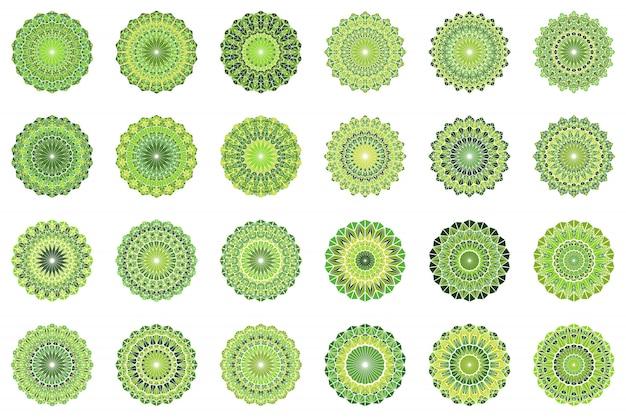 Runder geometrischer aufwändiger dreieckfliesenmosaik-mandalasatz