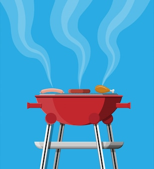 Runder grill. grill-symbol. elektrogrill.