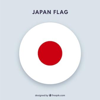 Runder japanischer flaggenhintergrund