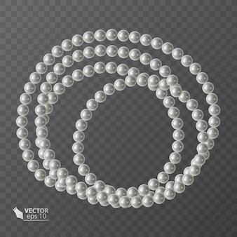 Runder rahmen aus realistischen perlen