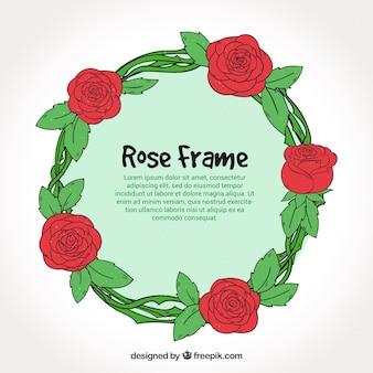 Runder rosenkranz in handgezeichneter art