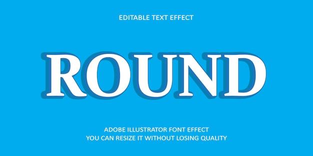 Runder text-guss-effekt
