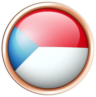 Rundes abzeichen-design für tschechien