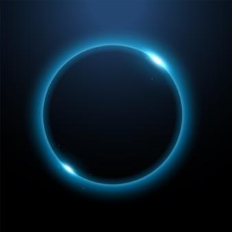 Rundes blaues licht verdreht