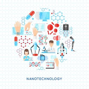 Rundes design der nanotechnologie