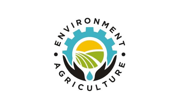 Rundes emblem / ausweis für landwirtschaftsfirmenlogodesign