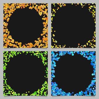 Rundes grenzhintergrunddesign eingestellt mit punkten