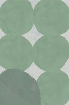 Rundes grünes kreisdesign