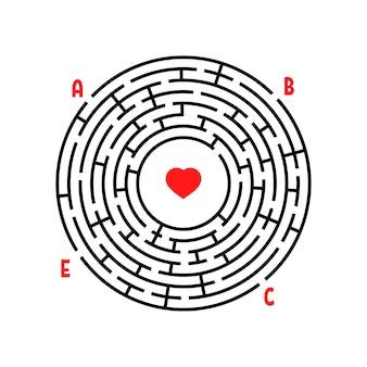 Rundes labyrinth arbeitsblatt für kinder