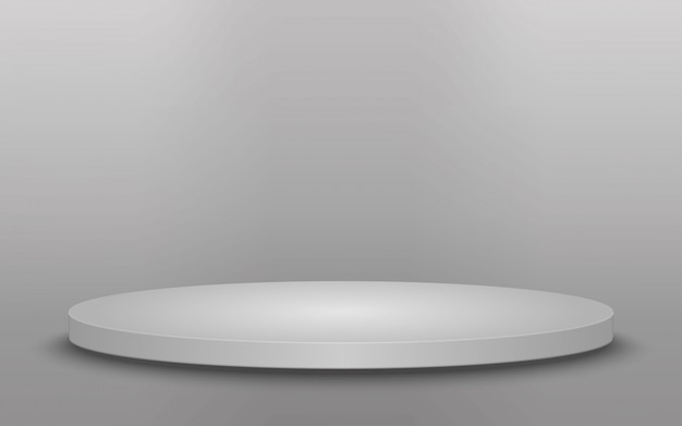 Rundes podium, sockel oder plattform lokalisiert