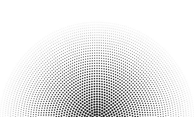 Rundes randsymbol mit rasterstruktur mit halbtonkreispunkten