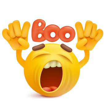 Rundes smileygesicht emoji, das boogeste macht.