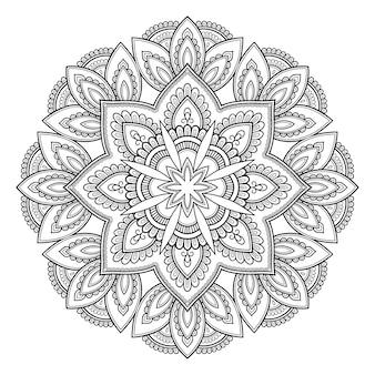 Rundmandala, mehndi. dekorative verzierung im ethnisch orientalischen stil.