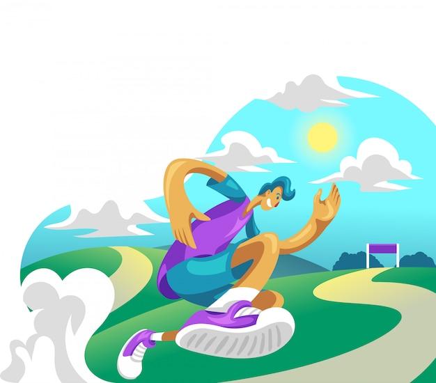 Runing illustration