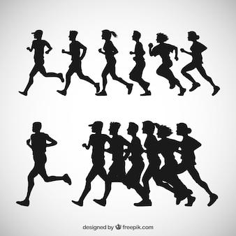 Runner silhouetten