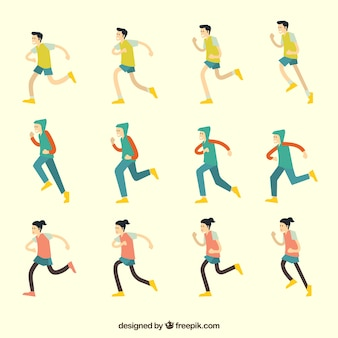Running icon collecti