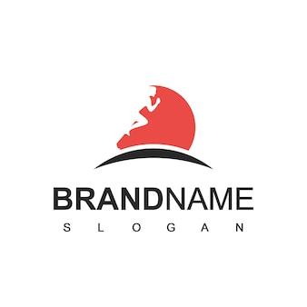 Running man sport logo vorlage