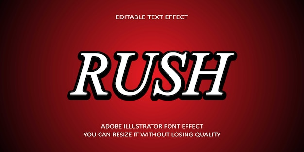 Rush bearbeitbarer text effekt