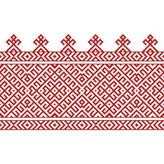 Russische alte stickerei und muster. vektornahtloses muster der slawischen verzierung.