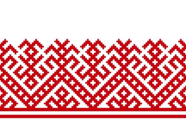 Russische alte stickerei und muster