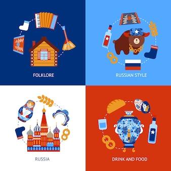 Russische designs sammlung