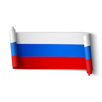 Russische flagge. band.